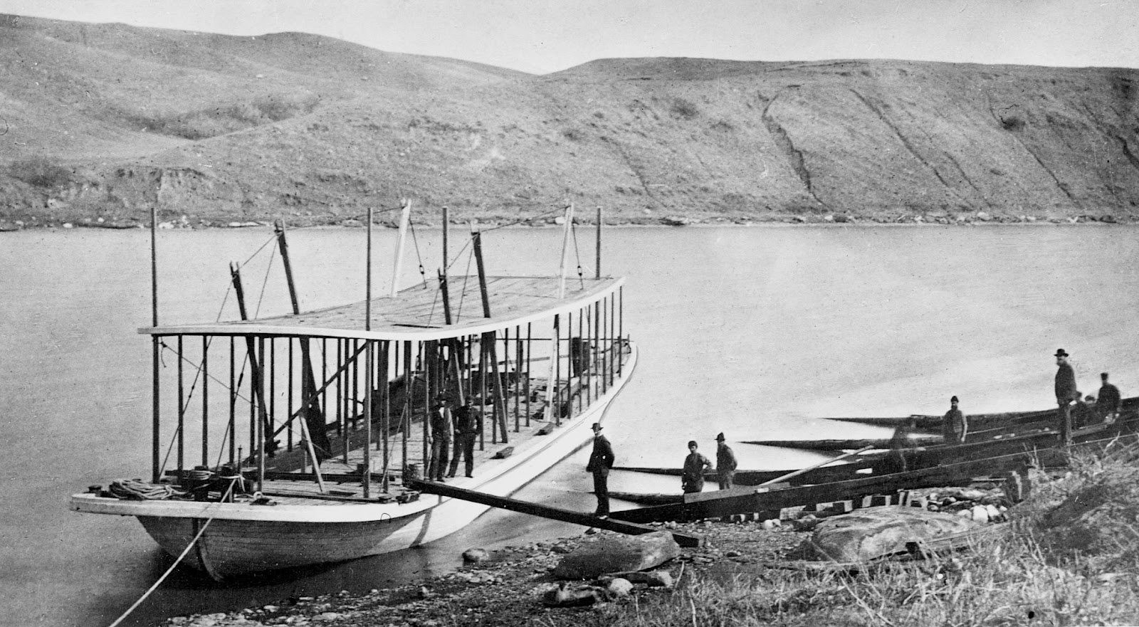 In the 19th Century, steamboat was the preferred means to travel between cities. It was also used to transport coal from Lethbridge to Medicine Hat before the railway was completed. (Photo: Galt Archives)