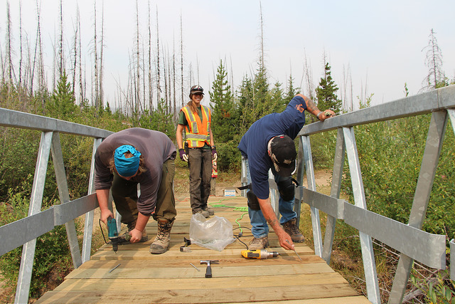 OWC helps deck bridges to encourage motorized recreationists to steer clear of creeks.