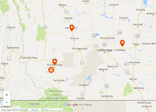 General Locations of the newly funded Watershed Legacy Program Projects!