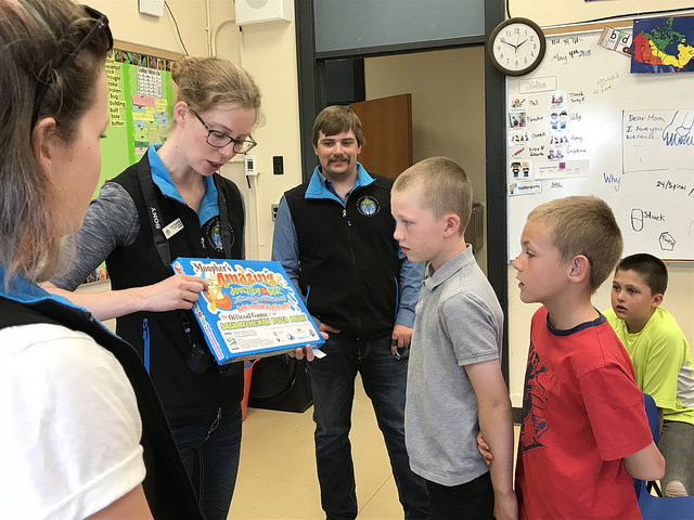 Students will learn even more about where they live by playing  Moopher's Amazing Journey to the Sea  - a game developed by the Partners FOR the Saskatchewan River Basin.