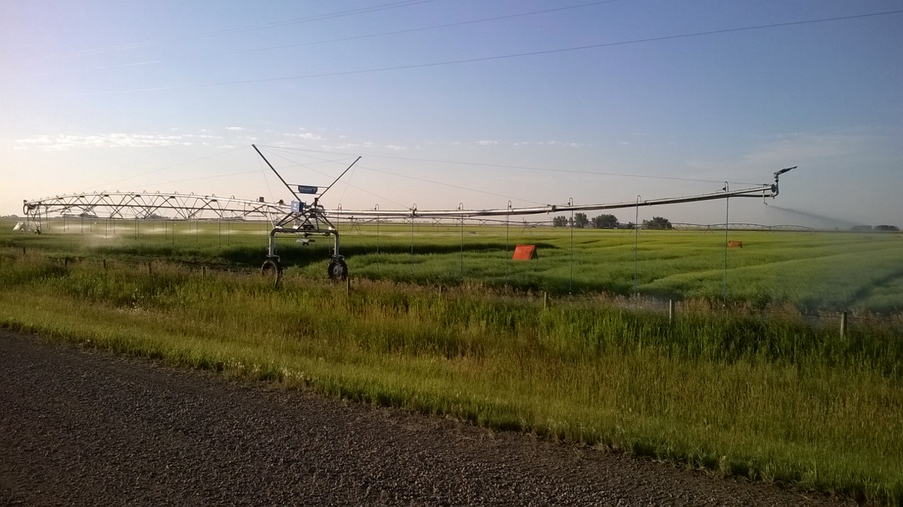 VRI Pivot. Photo supplied by the Taber Irrigation District.