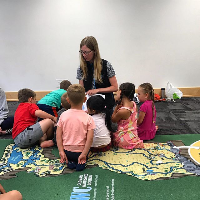 Sofie and the OA's are in Taber today at the local library reading a book about water on this nice Friday morning! #abwater #watered #oldman