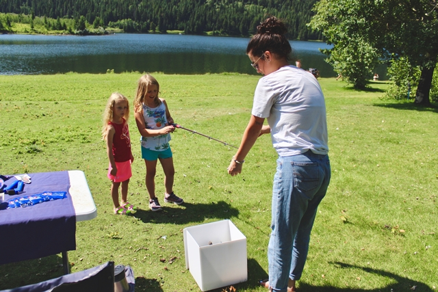 We loved working with kids and teaching them about native fish in our watershed!