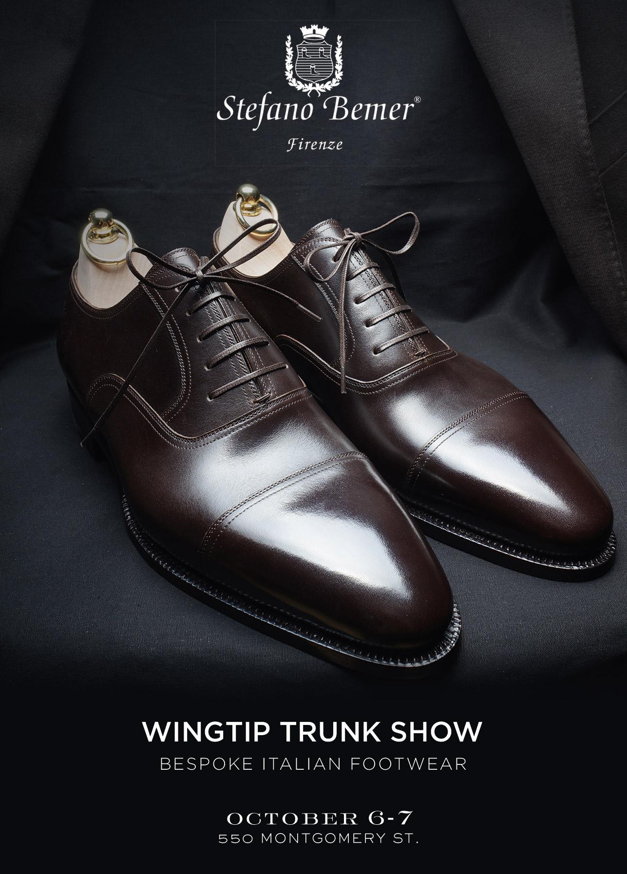 """TRUNK SHOW, """"Wingtip, date, address"""""""
