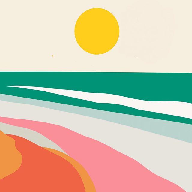 New wallpapers up in my stories! Inspired by Carlsbad Beach.  Definite mural potential. . . . . #pearlandpen #modernart #modern #abstractart #digitalart #abstract #digitalpainting #mural #muralart #carlsbad #carlsbadbeach #carlsbadvillage #northcounty #northcountysd #sdartist #designer #sandiego