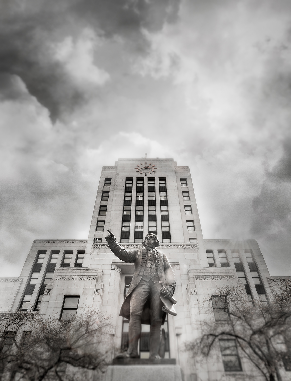 Raincity Series - Captain Vancouver at City Hall