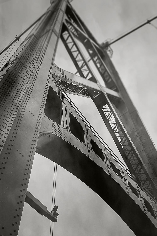 Raincity Series - Tower, Lions Gate Bridge