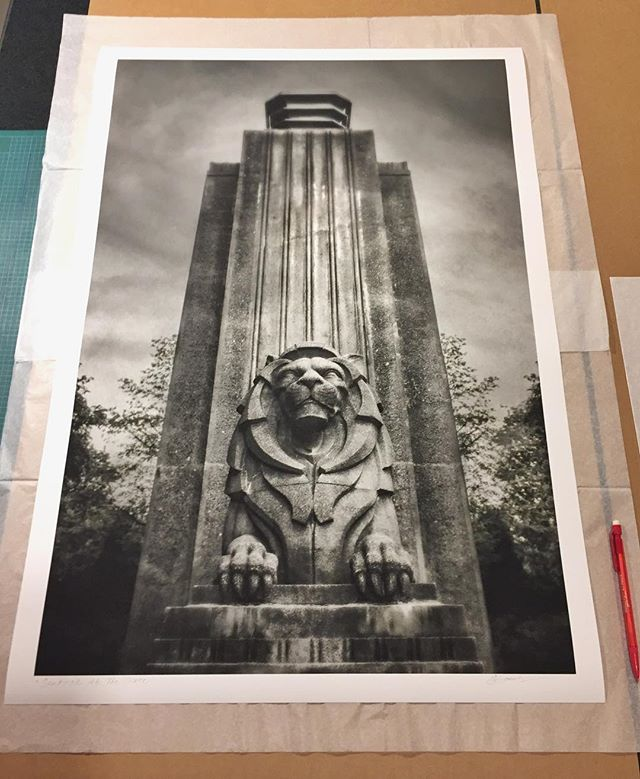 "A giant 20"" x 30"" print of my image ""Sentinel At The Gate"" winging its way to a lovely customer on Vancouver Island today. Thanks to #triceraimaging in Vancouver for another great print job and to my customer for seeking this out! . . . #lionsgatebridge #stanleypark #vancouverbc #vancouvericon #lionsculpture #vancouverphotographer ."
