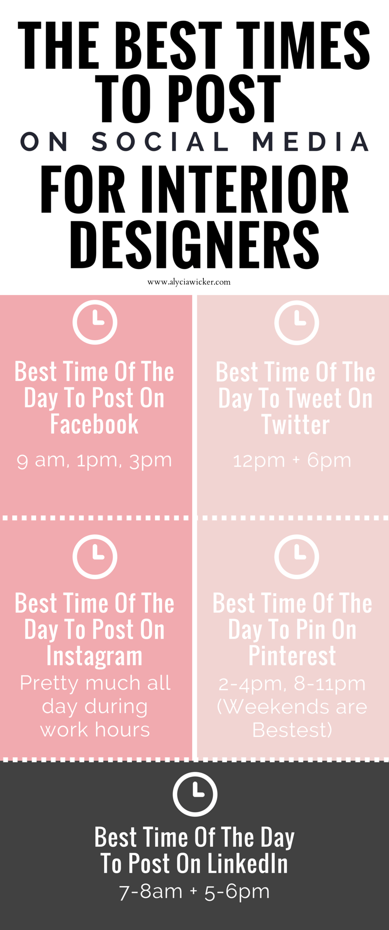 best time to post for interior designers