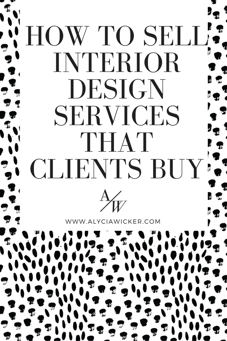 how to sell interior design services