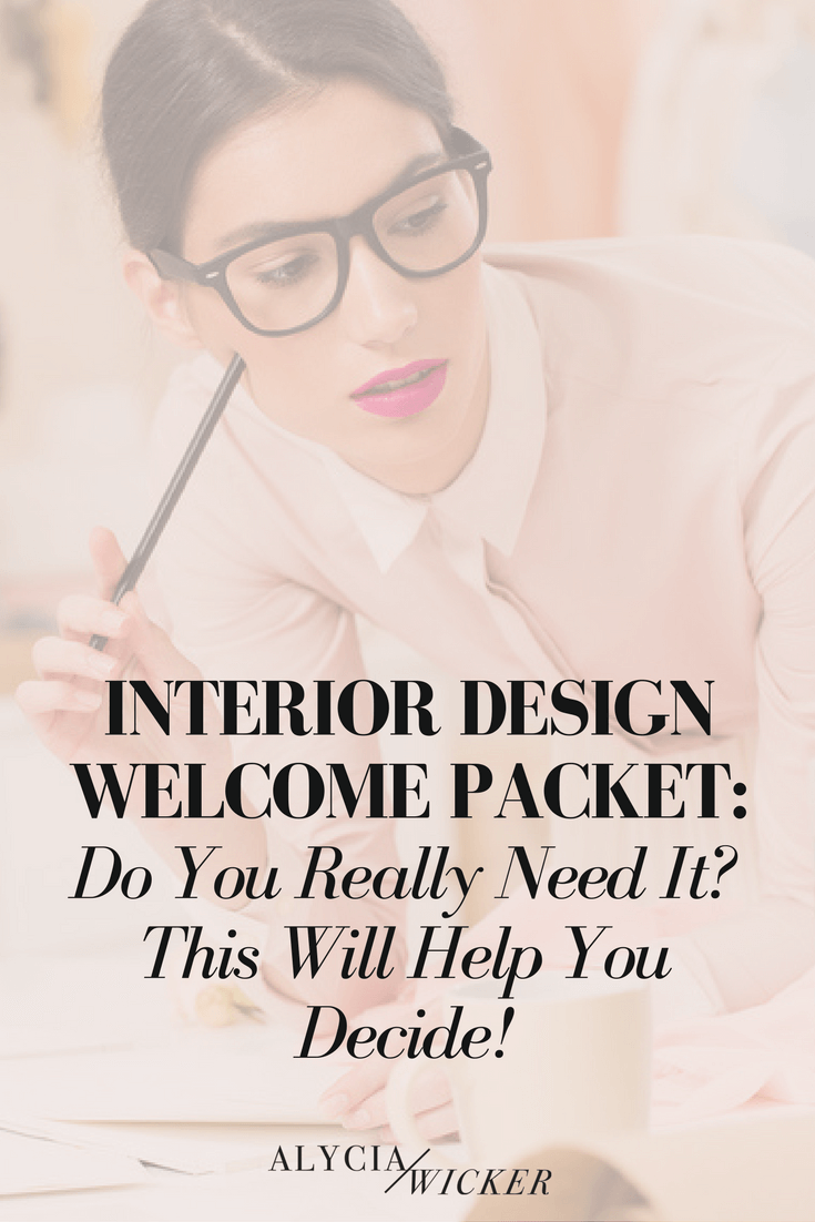 interior design welcome packet
