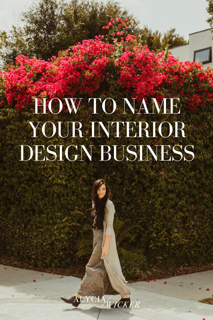 name your interior design business
