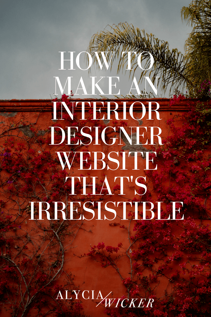how to make a website for interior design