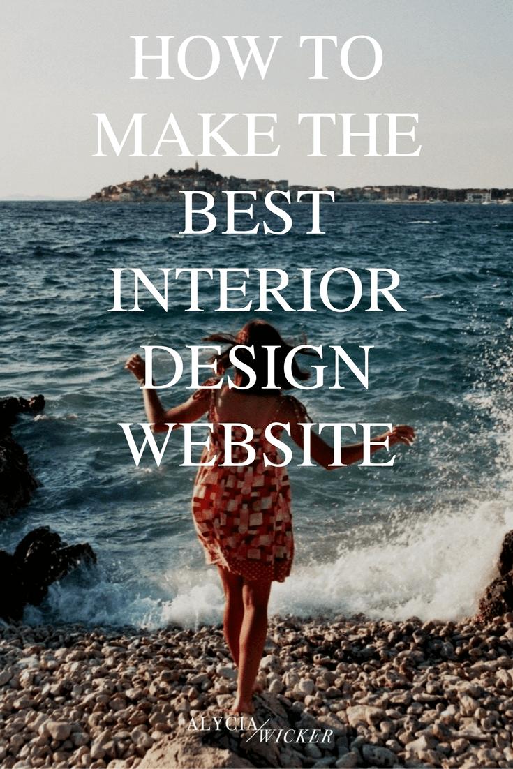 how to make the best interior design website