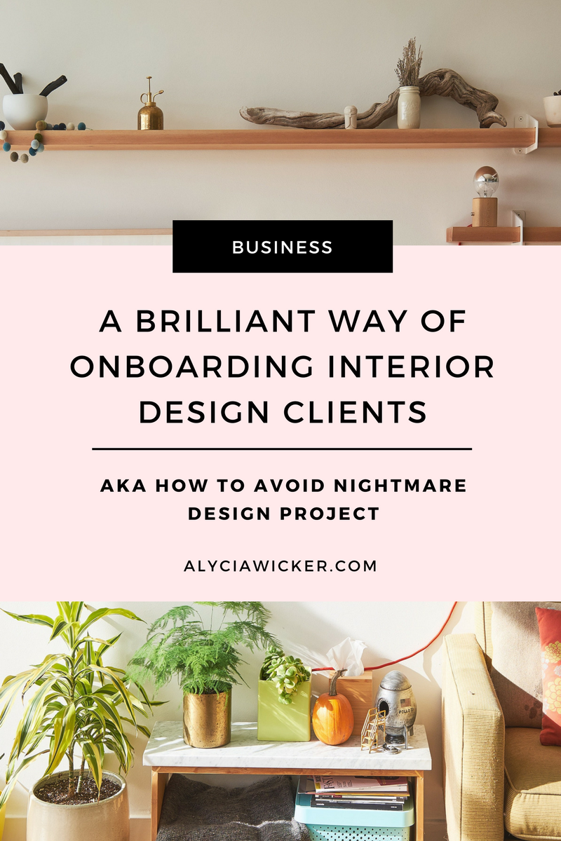 onboarding process for interior design
