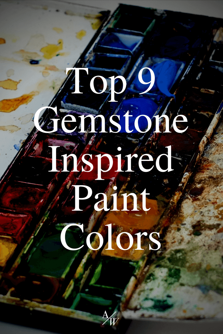 paint pallet, gemstone inspired paint colors