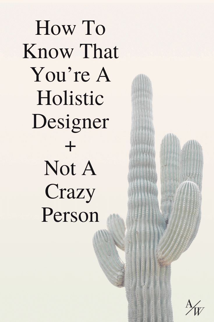 cacti, text: signs youre a holistic designer
