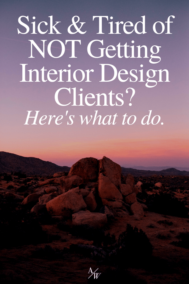 sick and tired of not getting enough clients