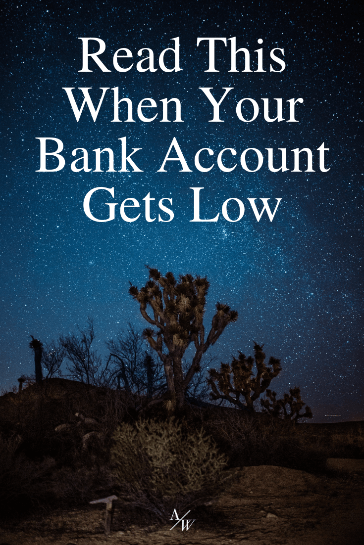 low bank account