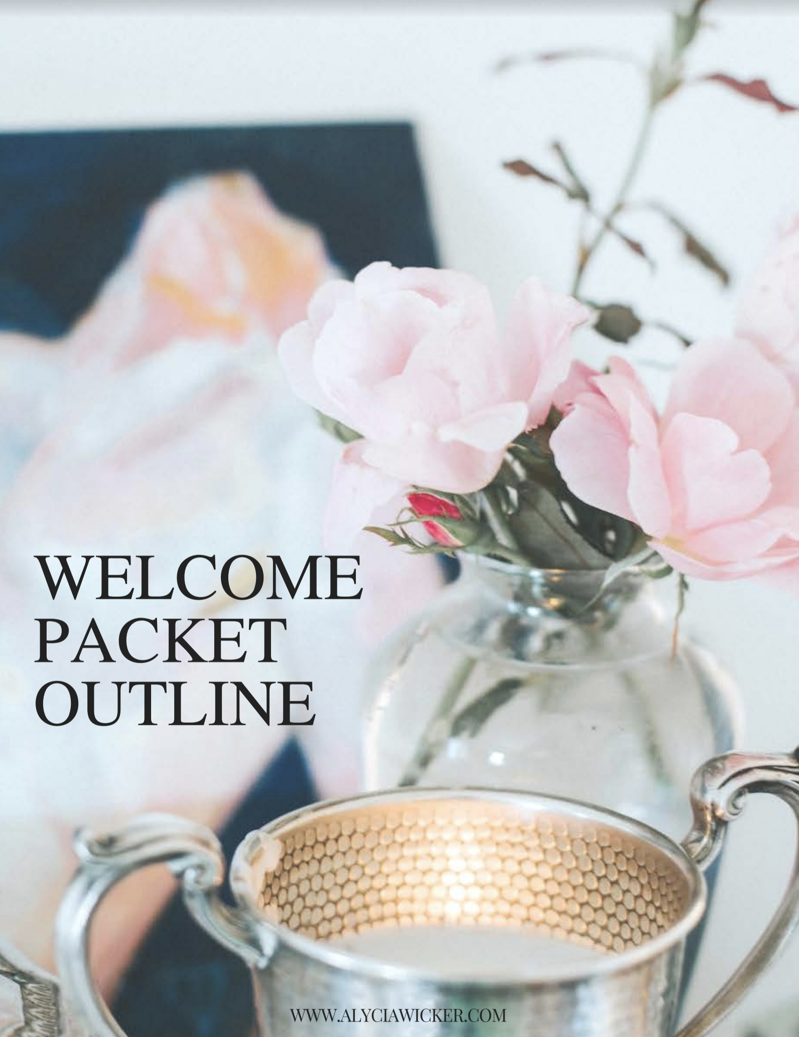 interior design welcome packet outline