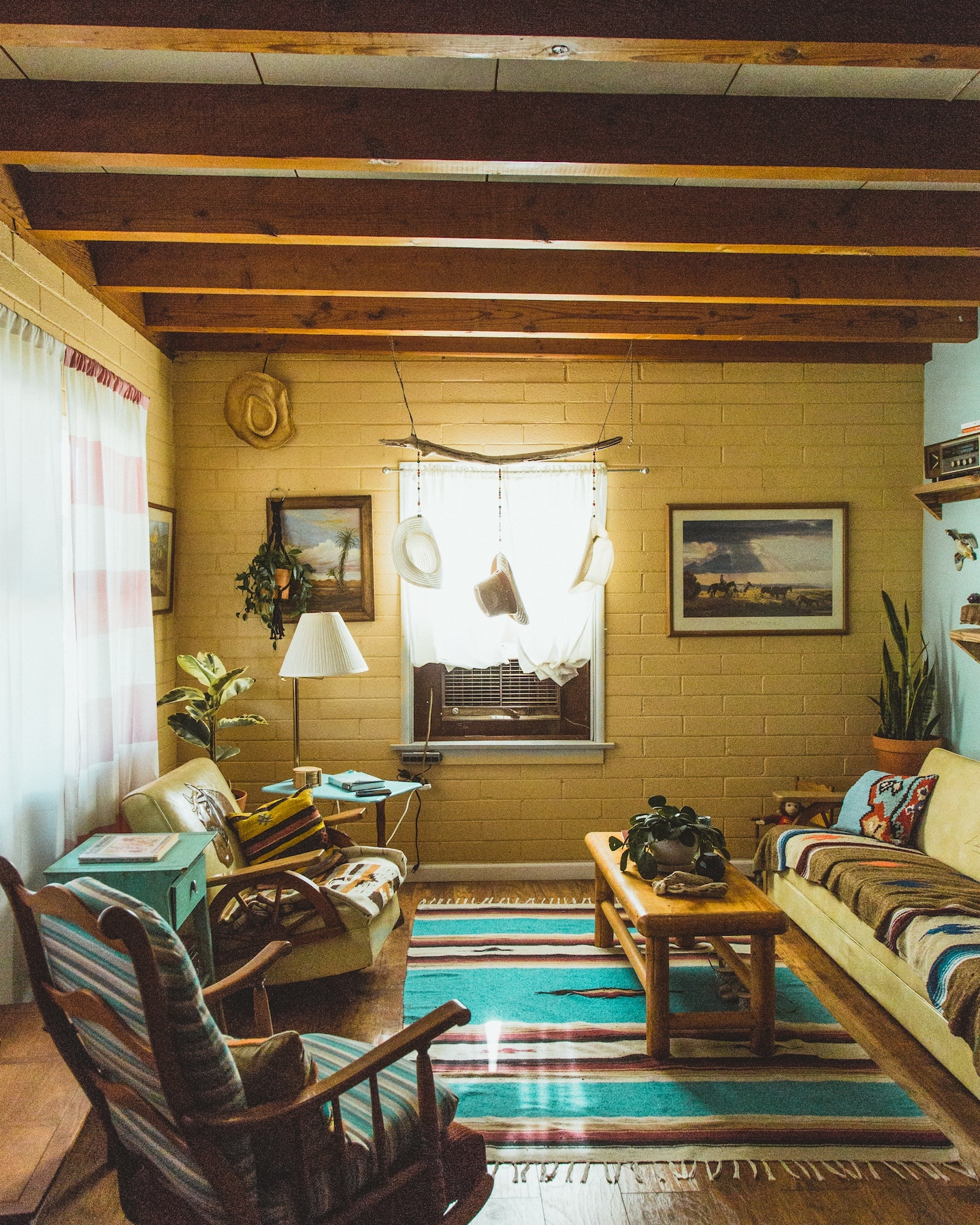 rustic themed living area