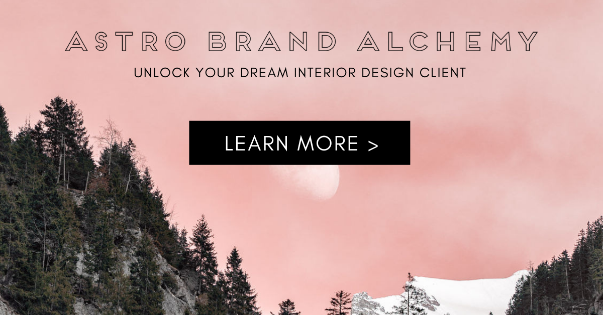 Astro Brand Alchemy forest pink background