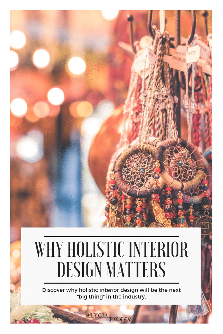 "dream catchers hanging with text ""why holistic interior design matters"""