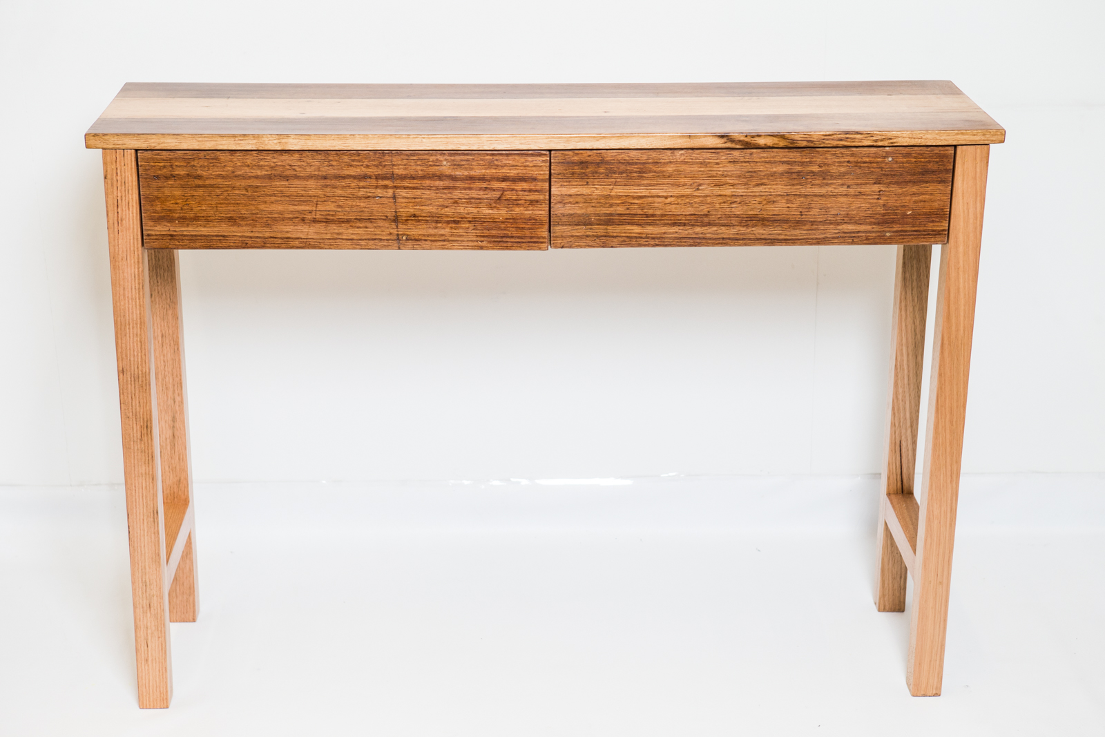 Hall table with drawer and straight legs