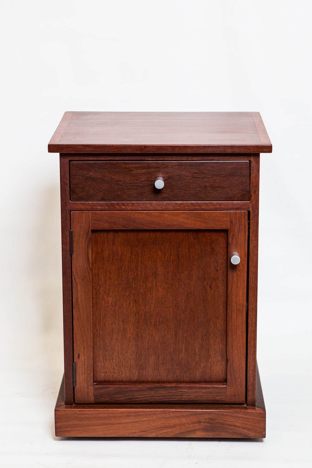 Bedside table with drawer and shelves
