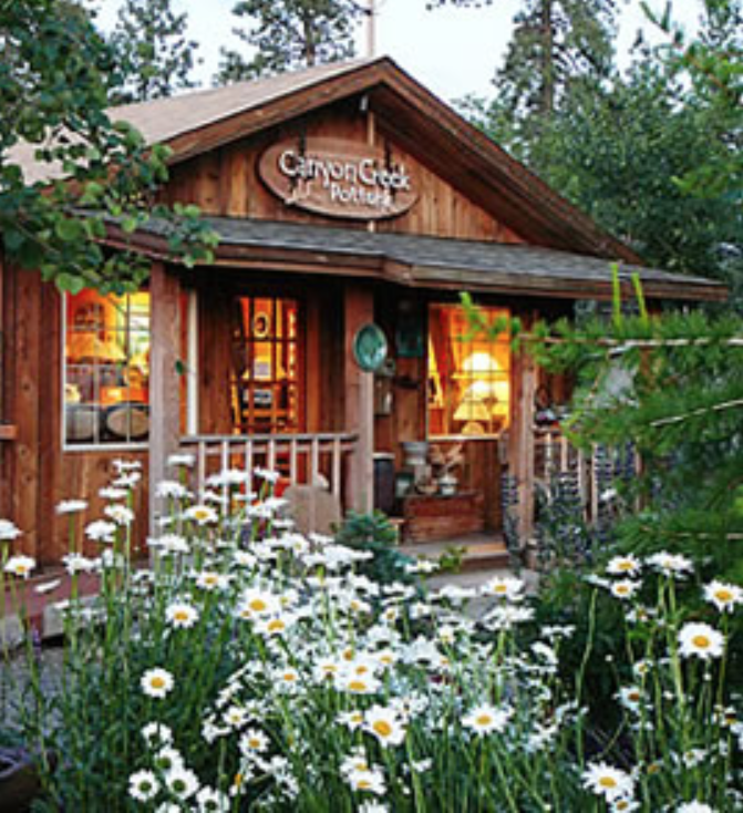 My Gallery at Canyon Creek Pottery in Sisters, Oregon.