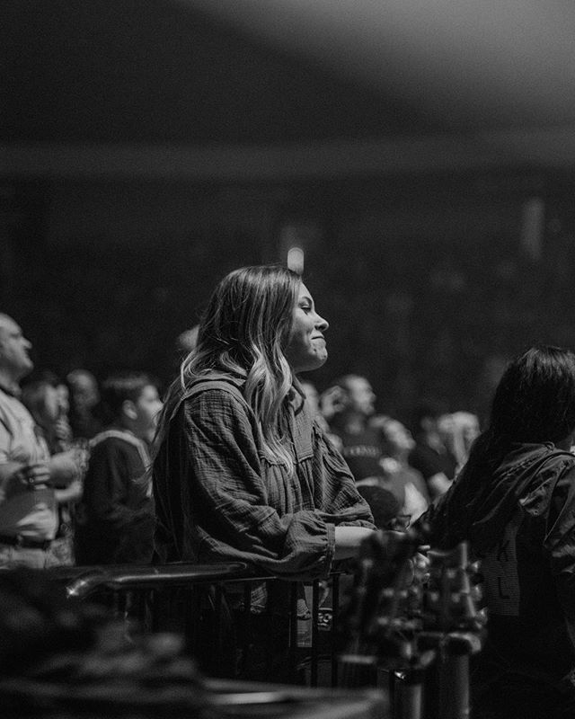 Tasha came to Birmingham to see our @tobymac show tonight.  I cried when I saw this photo.  Have you ever felt this supported?  I love you, @tashalayton (photo: @emilyaginger)