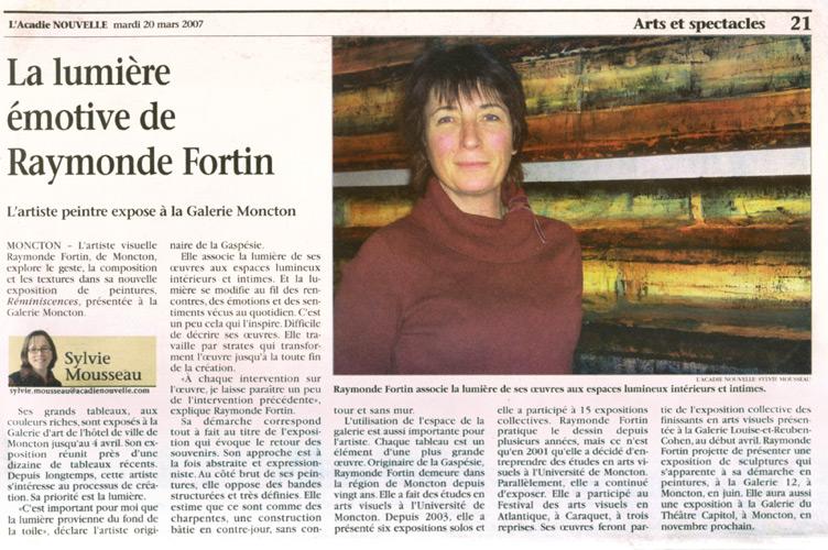 Mars 2007, exposition Réminiscences