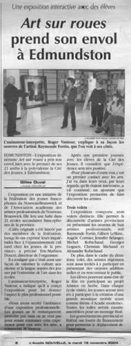 Novembre 2004, exposition Art sur roues