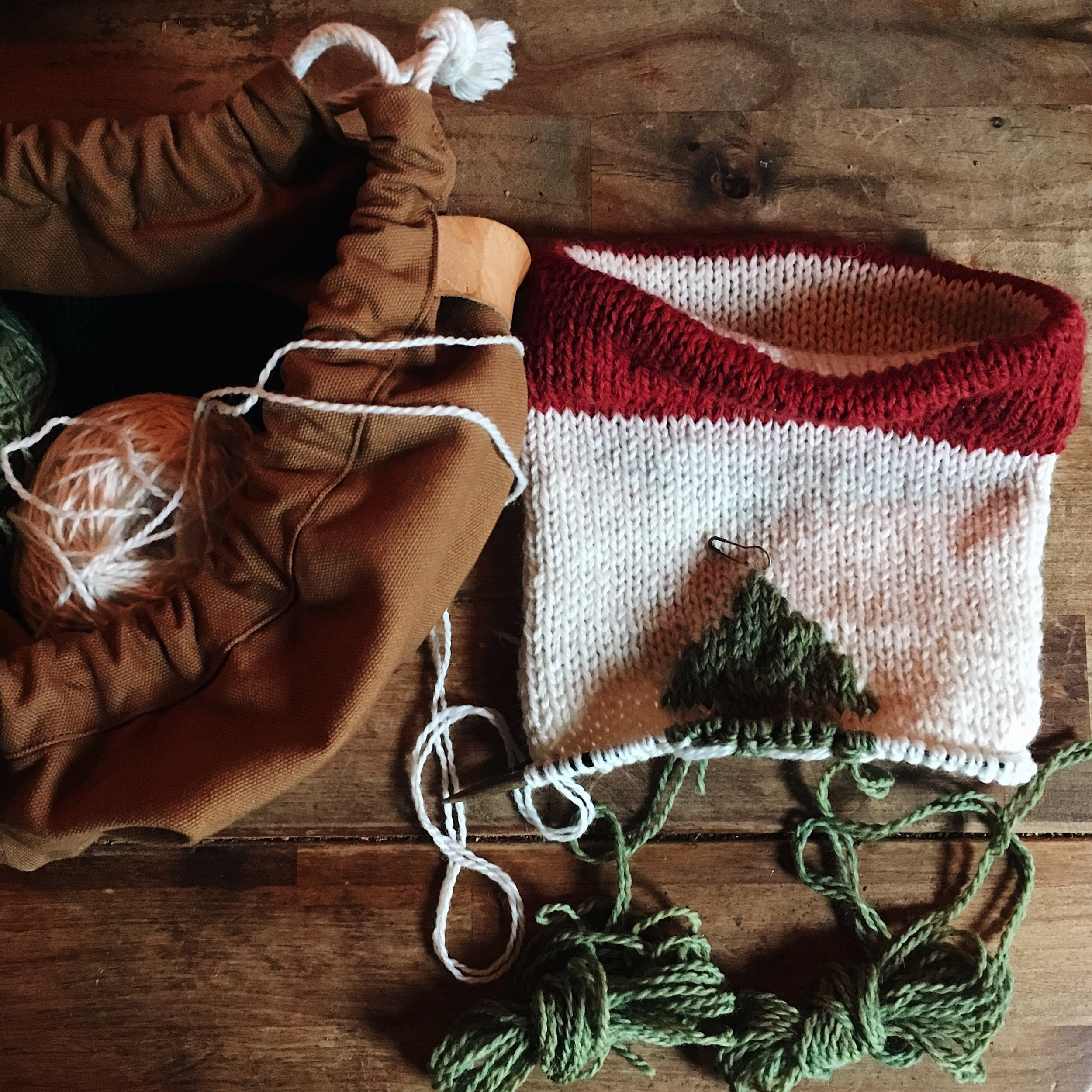 Natural Dyed Wool Christmas Stocking Image by Samantha Spigos