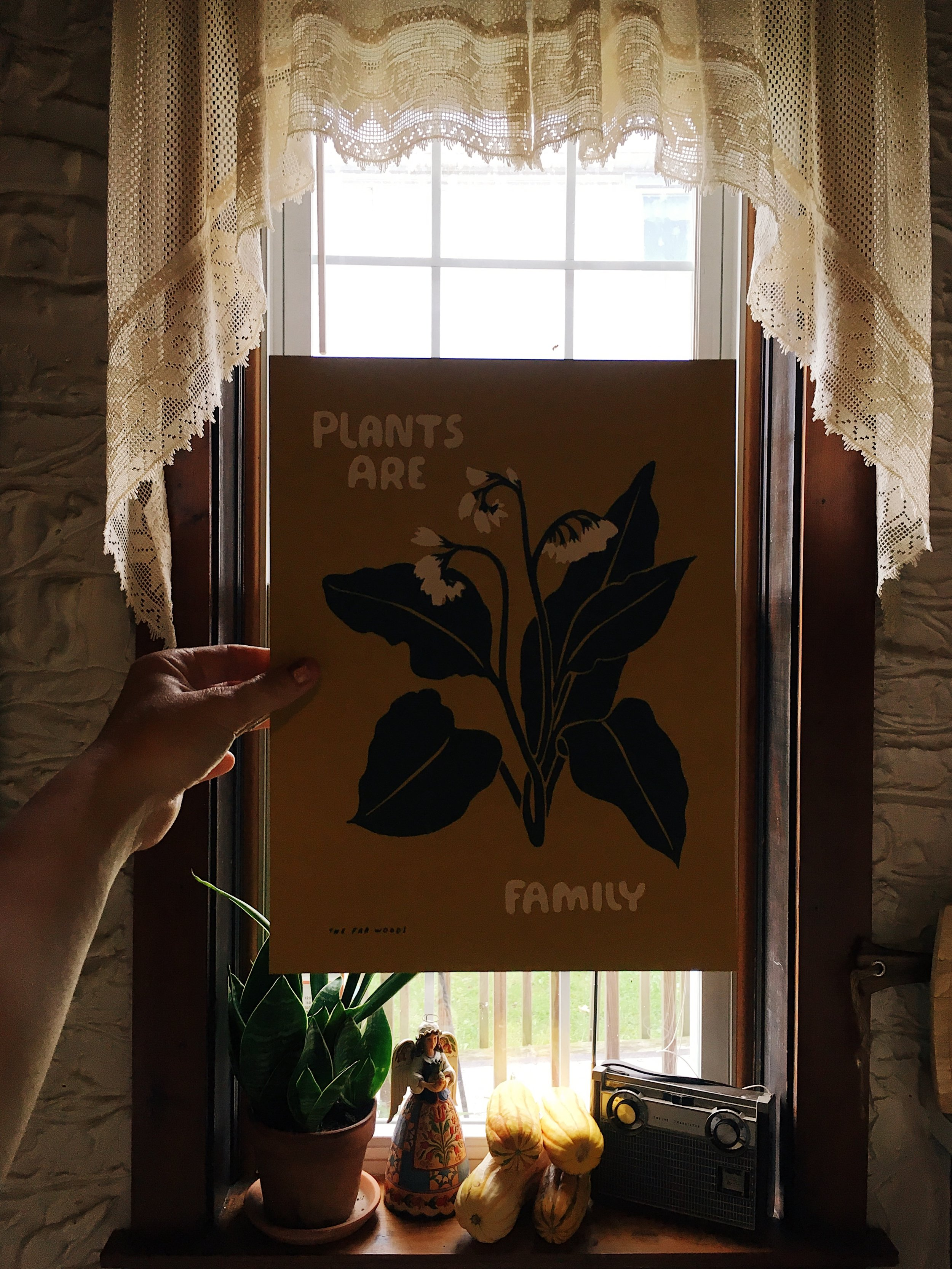 Plants Are Family Print by The Far Woods Image by Samantha Spigos
