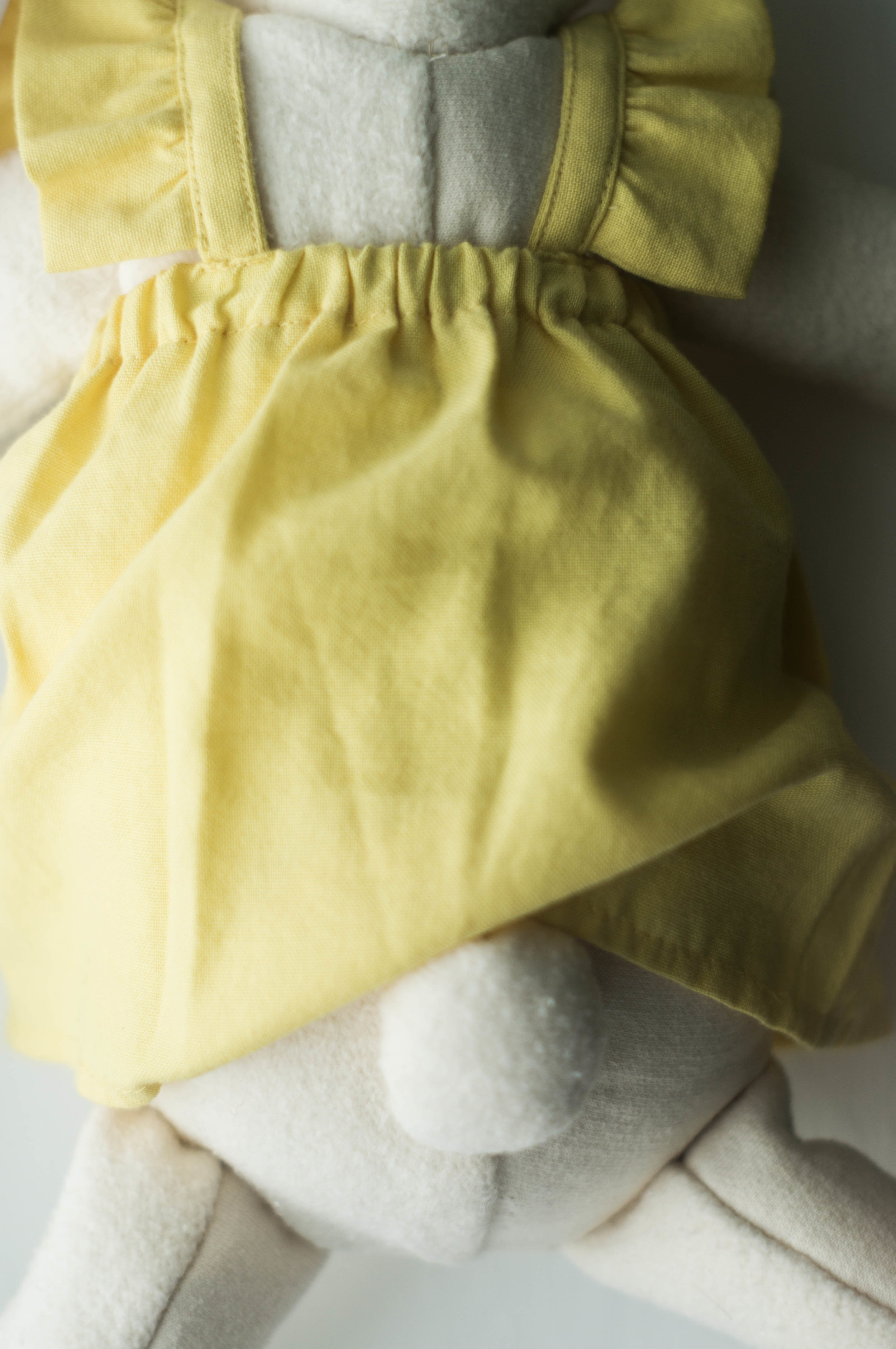 first birthday gift handsewn cotton wool bunny by samantha spigos