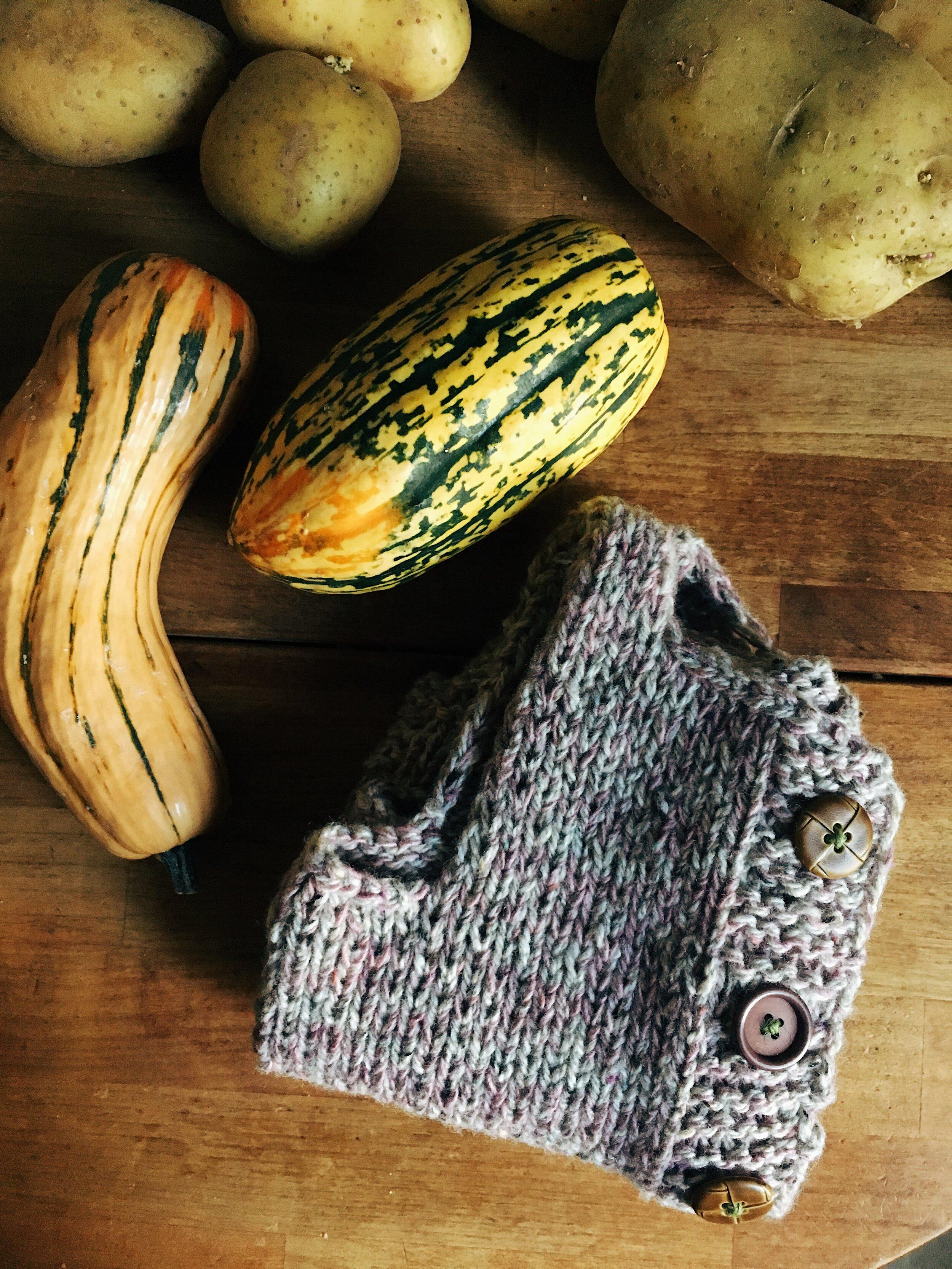hand knitted child vest by samantha spigos