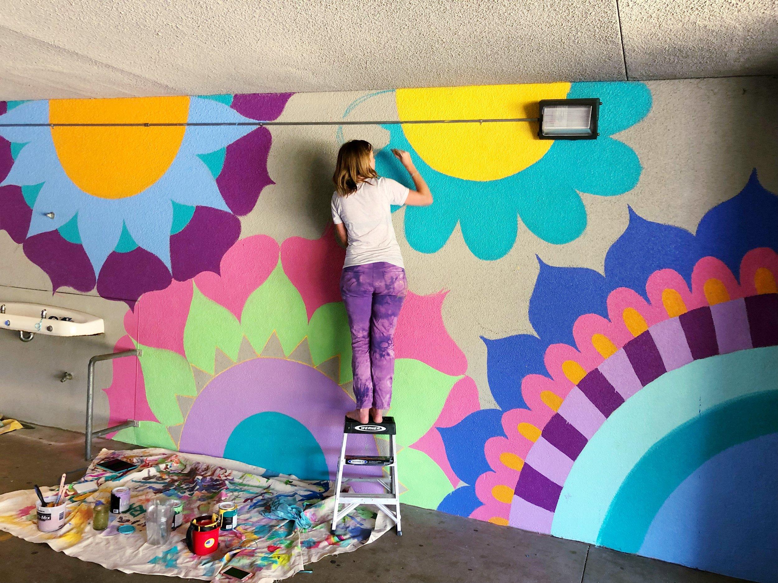 Mural at Muirlands Middle School, La Jolla, San Diego, 2018