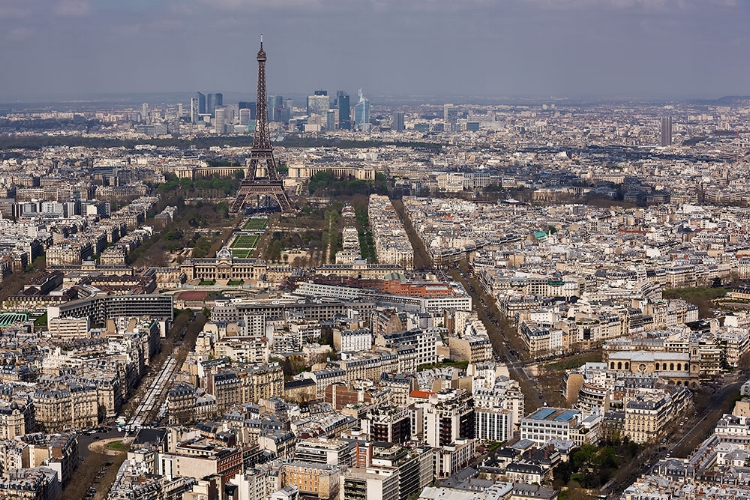 View of the Eiffel Tower from the Montparnasse   Tower