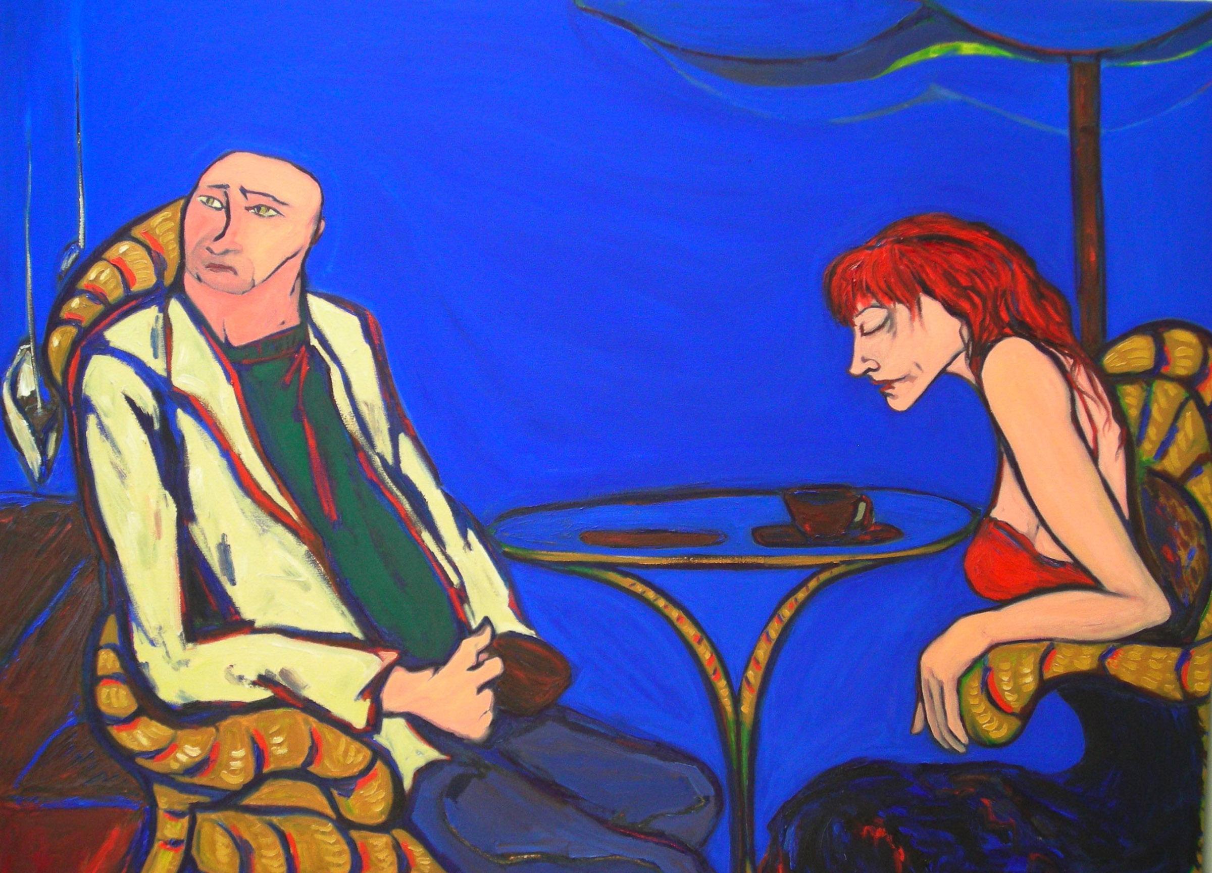"Harbor  oil on canvas 60' x 72"" 2006"