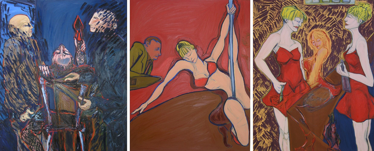 "The Club  oil on canvas 60"" x 144"" 2006"