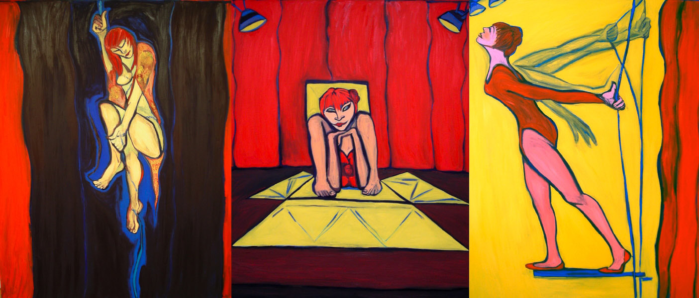 "Aloft  oil on canvas 60"" x 144"" 2007"