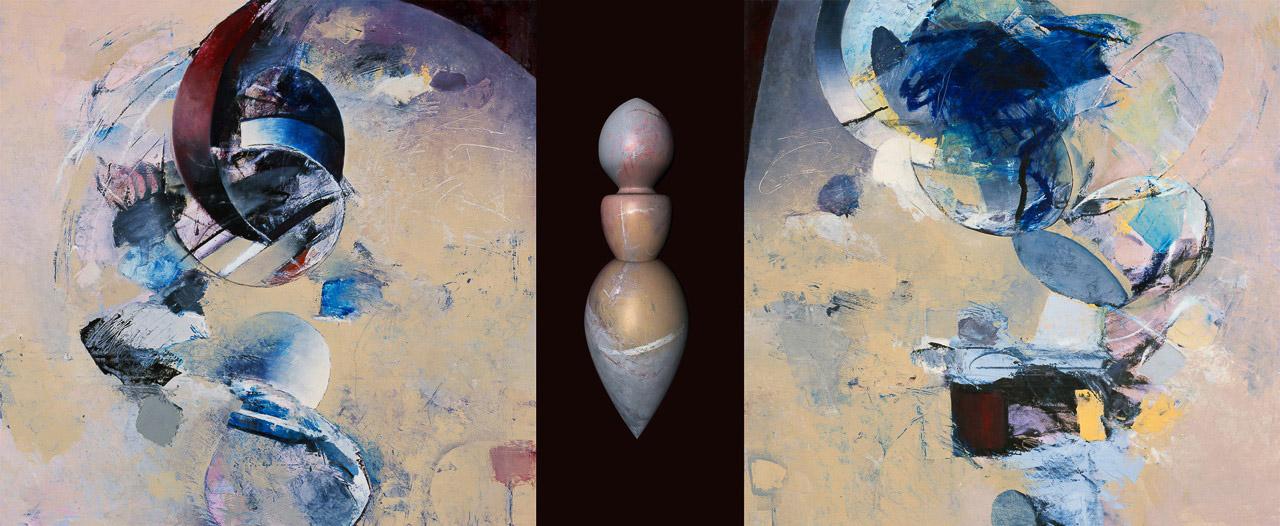 "Angel Venus 3    Oil & Pigment  30"" x 73"""
