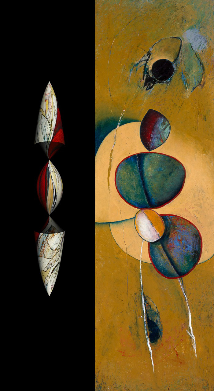 "Parallel Universe: Spider    Oil & Pigment  69"" x 40"""