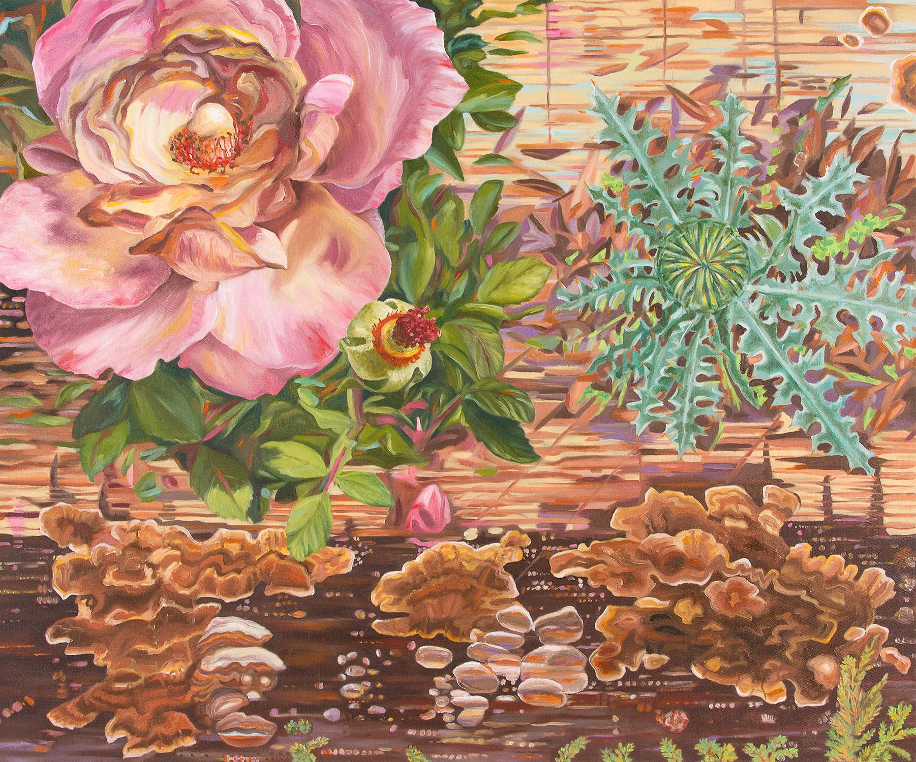 "Beauty & the Beast  Oil on canvas, 30""h x 36""w, 2015"