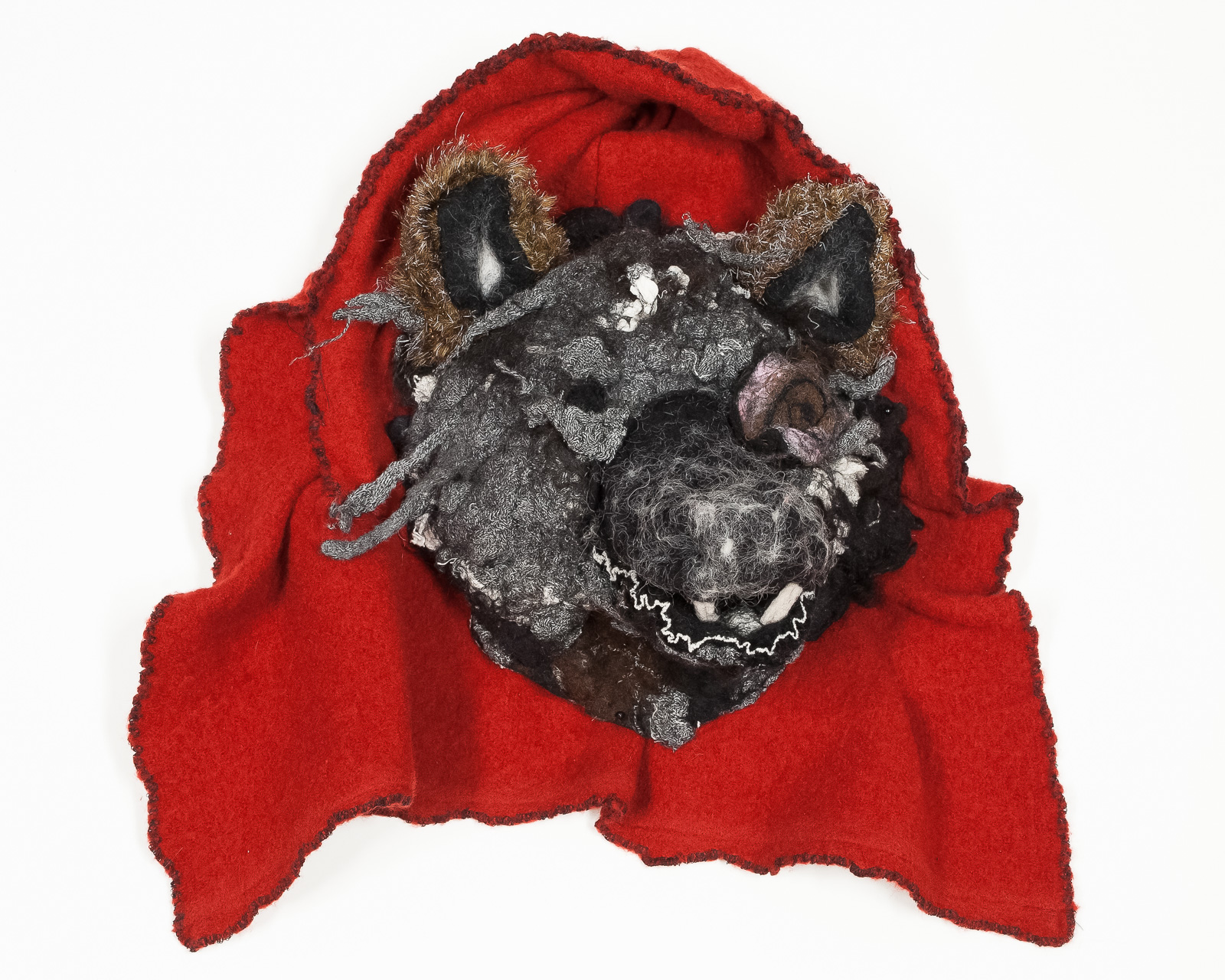 Wolf Mask:Guardian to the Afterlife  2015 Wool felt, cloth.