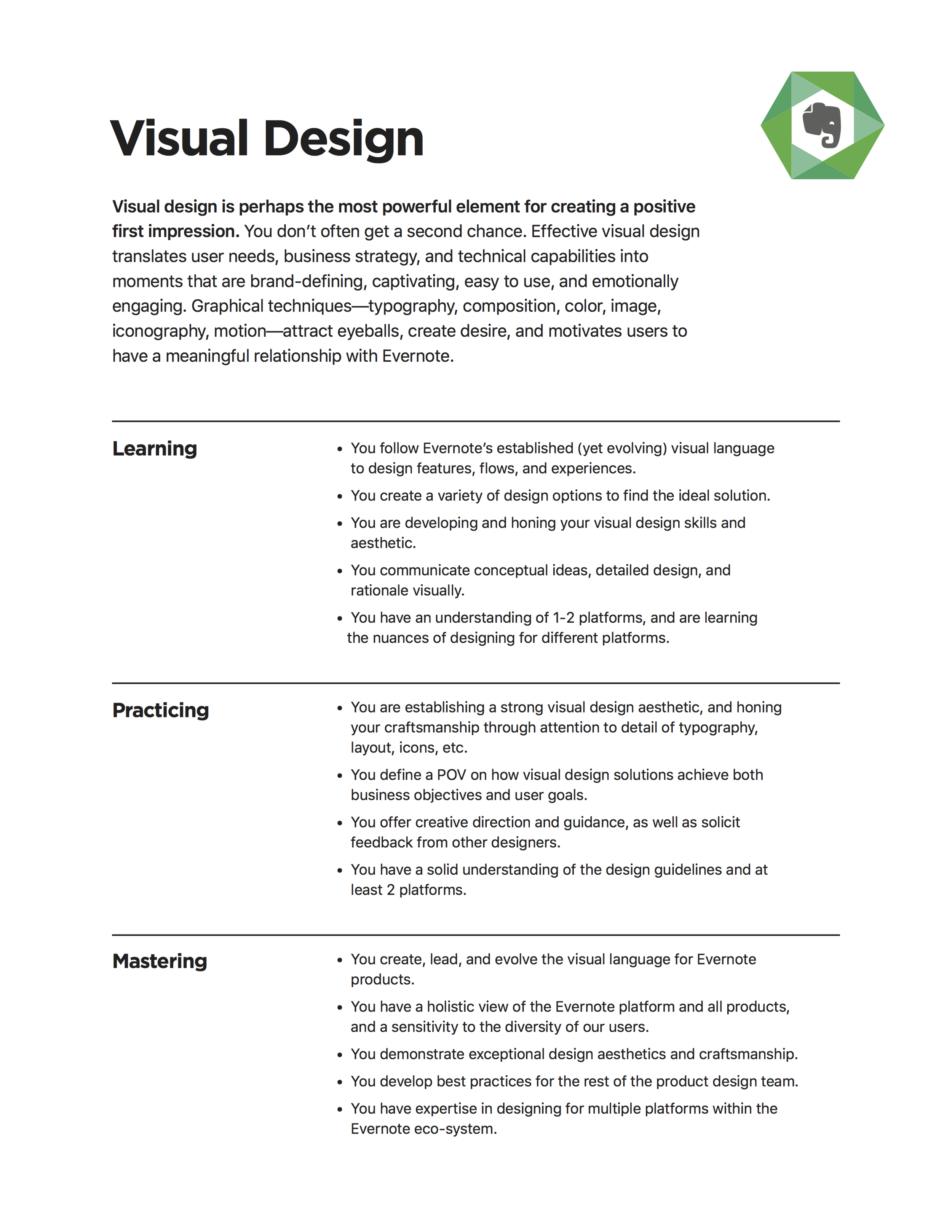 Example of one of the 9 Design Superstars skills