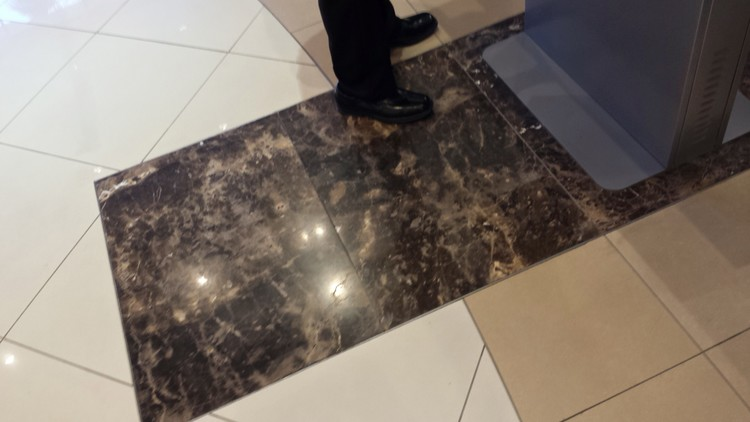 A positive finding indicated that dark tiling around the kiosk attracts customers
