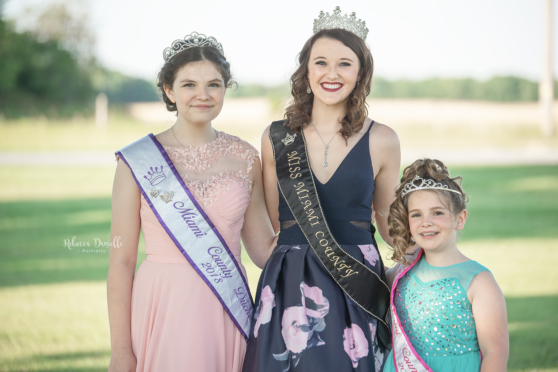 Outgoing 2018 Miami County Fair Royalty:  Miss Miami County 2018, Eilee Densiton MIami County Duchess 2018, Elizabeth Pavey Miami County Princess 2018, Lilah Millian