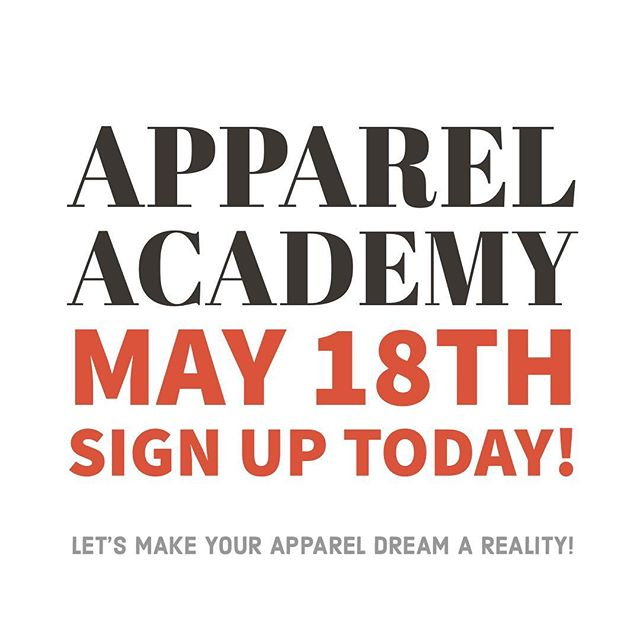 Hello Fashion Designers and Apparel Entrepreneurs, our next @apparelacademy is being offered in-factory or over live stream on Saturday, May 18th from 9-5pm. Come learn how to launch 🚀 your start up apparel line in-person or from the comfort of your living room!  Click the link in our profile to register or go to www.theapparelacademy.com - - -  #madeinusa #madeinmn #onlyinmn #communityovercompetition #createcultivate #makeitminnesota #entrepreneurlife #techdesign #etchicalfashion #smallbusiness #productdevelopment #madeinamerica  #seminar #ethicalfashionforum #education #alwaysbelearning #madelocal #fashiondesign #fashionstartup #ecofashion #ethicalfashion #imadeyourclothes #sweatshopfree #ethicallymade #sustainablefashion #fashionrevolution #slowfashionblogger #appareldesign #appareldesigner